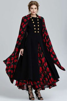 Vintage Dolce & Gabbana Lucca Floral Coat