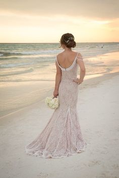 romantic-bridal-dress-beach-wedding