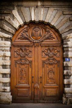 Photographic Print: La Porte II by Erin Berzel : Cool Doors, Unique Doors, Porte Cochere, Wooden Door Hangers, Wooden Doors, Entrance Doors, Doorway, Main Entrance, Front Doors