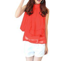 Allegra K Woman Semi Sheer Sleeveless Stand Collar Shirt Tops Red Asian Large / US Medium Allegra K,http://www.amazon.com/dp/B008SOPAQ4/ref=cm_sw_r_pi_dp_YBhBsb0AV05XYBSR