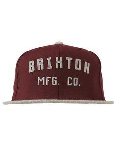 28ab30e598f Brixton Clothing Arden Snapback Hat - Maroon Heather Grey  28.00  brixton   arden