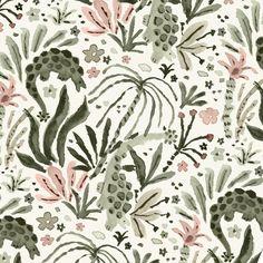 "318 Likes, 3 Comments - Vikki Chu (@vikki.chu) on Instagram: ""Dinosaur repeat #pattern #illustration #drawing"""