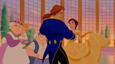 Swoon-Worthy Prince Moments:  The moment Belle and Beast dance through the night. (gif)