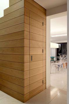 hidden wooden door timber cladding extrArchitecture