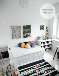 liven up plain white drawers by painting black triangles!