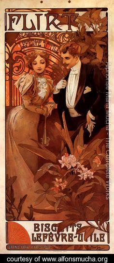 Flirt - Alphonse Maria Mucha - www.alfonsmucha.org
