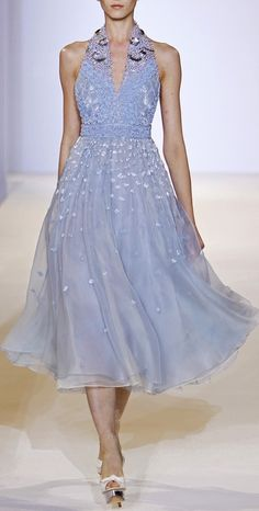 Temperley London LFW Spring 2013 - this is the Spring's periwinkle - halfway between blue and purple.
