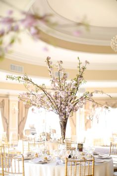 Gorgeous cherry blossoms   Oheka Castle Wedding from Amy Rizzuto Photography + Heritage+Joy Read more - http://www.stylemepretty.com/new-york-weddings/2013/10/09/oheka-castle-wedding-from-amy-rizzuto-photography-heritagejoy/