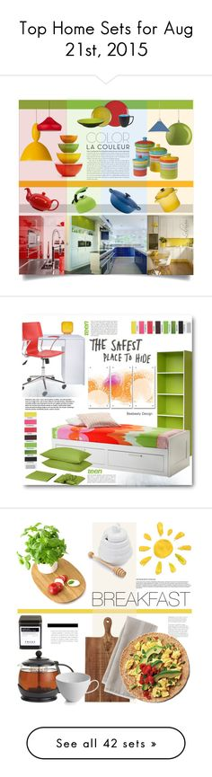"""""""Top Home Sets for Aug 21st, 2015"""" by polyvore ❤ liked on Polyvore featuring interior, interiors, interior design, home, home decor, interior decorating, Martha Stewart, Certified International, Muuto and Waechtersbach"""