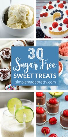 I needed sugar free dessert ideas for diabetics because diabetes runs in my family. These are healthy sugar free dessert ideas that my family loves!
