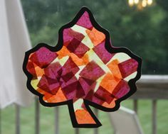 his fall leaf craft is a fantastic preschool craft that turns tissue paper into…