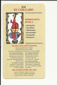 EL COLGADO Tarot Significado, Coquille St Jacques, Tarot Card Meanings, Tarot Readers, Palmistry, Card Reading, Book Of Shadows, Tarot Decks, Numerology