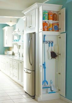 I love the  refrigerator cabinet!