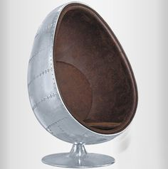 Aliexpress.com : Buy Promotion Space aluminum shell leather chair fiberglass liner rivets aluminum metal chair space pointed egg shaped chair ball ch from Reliable chair covers for office chairs suppliers on Cindy 17