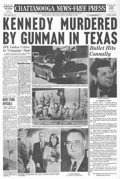 How The World's Newspapers Reported JFK's Assassination Os Kennedy, John F Kennedy, Newspaper Front Pages, Vintage Newspaper, Newspaper Article, History Facts, World History, American Presidents, Journaling