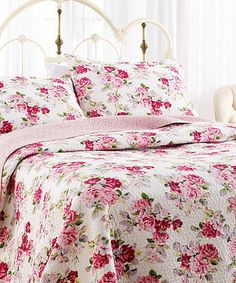 Take a look at this Pink Lidia Reversible Quilt Set today!