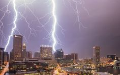 Top lightning pics over Baltimore in early morning storm on Aug 4