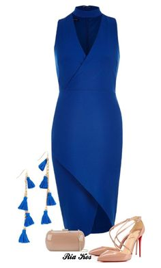 blue dress by ria-kos on Polyvore featuring polyvore fashion style River Island Christian Louboutin Sergio Rossi Vanessa Mooney clothing