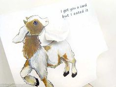 Funny Greeting Card Goat  Got You A Card But I by rainbowofcrazy, $3.25