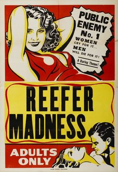 Reefer Madness, Public Enemy No. 1 - Vintage Movie Printable Poster
