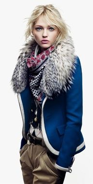 I'd try this with my Thom Browne Target x Neiman Marcus navy tipped jacket. Need a fur collar though.