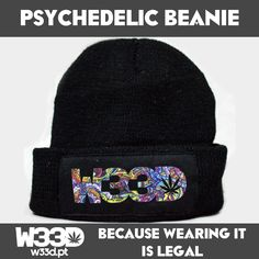Psychedelic Beanie #W33D