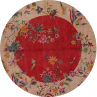 Charlton Home One-of-a-Kind Nevaeh Art Deco Oushak Oriental Hand-Tufted Wool Beige/Red Indoor/Outdoor Area Rug Art Deco Diamond, Indoor Outdoor Area Rugs, Rugs In Living Room, Jewelry Collection, Antique Jewelry, Jewelry Box, Oriental, Decorative Plates, Beige