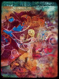 Gelli print collage by Day to Day creativity.