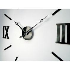 3D Nalepovacie hodiny DIY ADMIRABLE XL SWEEP 40C-1, 100-130cm   nástenné hodiny Clock, 3d, Wall, Decor, Watch, Decoration, Clocks, Walls, Decorating