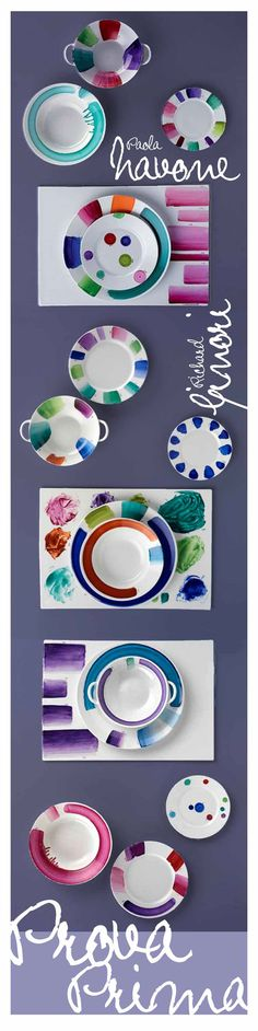 Prova Prima tableware by Paola Navone for Richard Ginori. Being Pantone obsessed, I have been stalking plates since 2010...