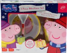 Peppa Pig 3 Piece Melamine Plate Bowl Cup Dinner Set - In Christmas Gift Box