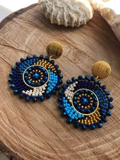 Seed Bead Jewelry, Bead Jewellery, Seed Bead Earrings, Diy Earrings, Bridal Earrings, Cute Jewelry, Earrings Handmade, Handmade Jewelry, Beaded Earrings Patterns