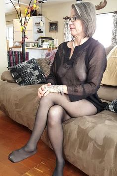 mature nylons Domestic
