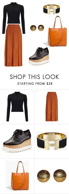 """Leather outfit"" by eda-kunics on Polyvore featuring Miss Selfridge, Lafayette 148 New York, STELLA McCARTNEY, Madewell and Chanel"