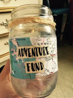 DIY adventure fund mason jar!