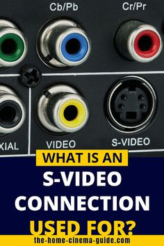 The S-Video cable can sometimes be useful in an AV setup. And, when should you use S-Video connectors? My guide explains all about S-Video… Surround Sound Speakers, Home Theater Setup, Home Cinemas, Cable, Laptop, Accessories, Cabo, Electrical Cable, Home Theater Installation
