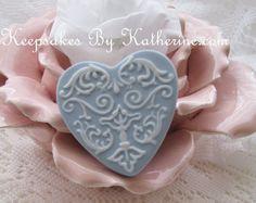 Vintage Wedgewood China Heart Brooch by Keepsakes By Katherine,