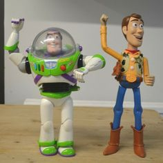 Electronic Talking Buzz Lightyear and Woody Action Figures Large, light up
