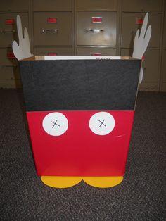 Valentine Box-Mickey Mouse. So cute