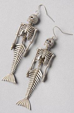 nOir The Siren Skeleton Earring