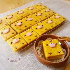 ♣   yellow chick pumpkin cakes Cute Desserts, Dessert Recipes, Cute Baking, Best Sweets, Cute Candy, Japanese Sweets, Miniature Food, Cute Food, Mini Cakes