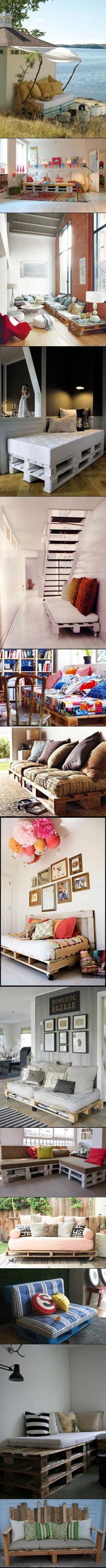 Home Decor DIY TOP-15 PALLET SOFA IDEAS by Ирина Дубровская
