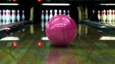 63e3a0bc62a60 Camera follows bowling ball till it strikes all ten pins. Free Stock  VideoStock ...