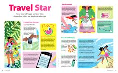 I loved working on these summer travel spots for American Girl Magazine! I also really want to own that watermelon purse~~ Many thanks to my art director, Dan Nordskog!