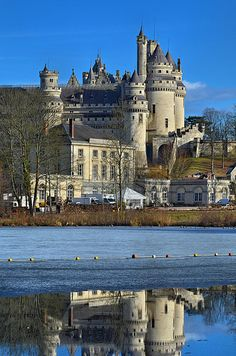The Château de Pierrefonds is a castle situated in the commune of Pierrefonds in the Oise département of France. It is on the southeast edge of the Forest of Compiègne, north east of Paris, between Villers-Cotterêts and Compiègne.