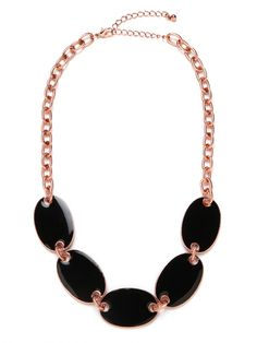 Our Black Rose Elliptic Bib... simple & geometric (and on sale for the next 24 hours... while supplies last!)