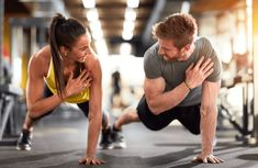 Man and woman strengthen hands at fitness training poster - Get Rid of Cellulite Blog Coaching, Ski Wm, Foto Sport, Fitness Tips, Health Fitness, Body Fitness, Fitness Man, Trainer Fitness, Free Fitness