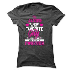 T-shirt for wife of JAVIER - #tshirt frases #crewneck sweatshirt. LIMITED AVAILABILITY => https://www.sunfrog.com/Funny/T-shirt-for-wife-of-JAVIER.html?68278