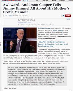 Disturbing Evidence of Satanic Ritual Abuse of CNN's Anderson Cooper by Mom, Gloria Vanderbilt – Oregon False Flags Exposed