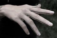 Hand line tattoo by Kenji Alucky